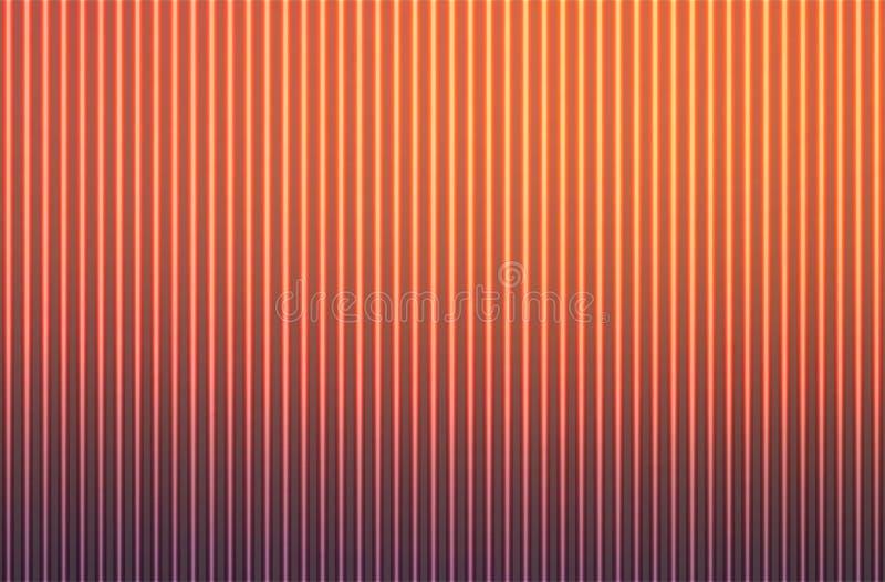 与灯光管制线的红色橙色紫色摘要弄脏了背景 向量例证