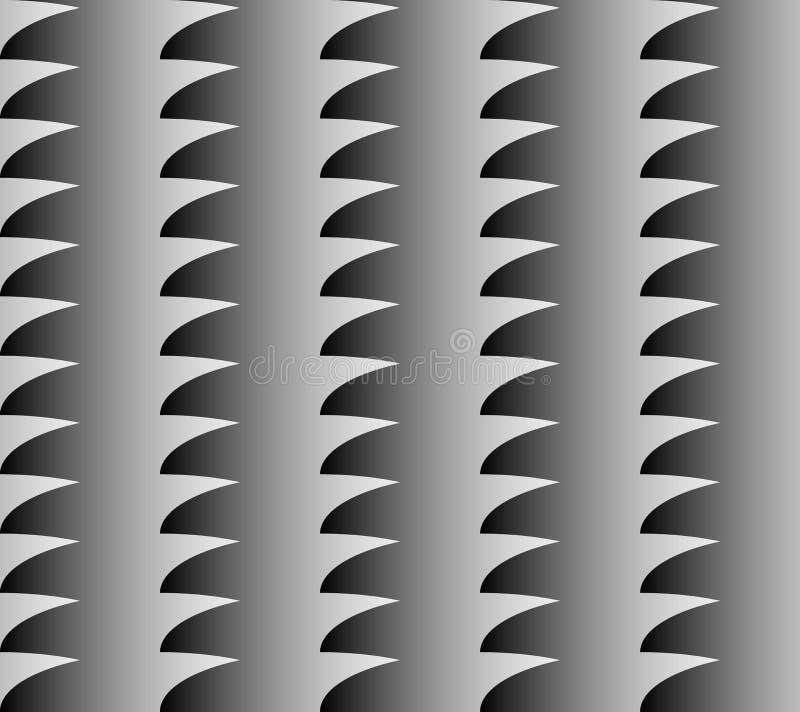与灰色极谱积土的几何样式 反复性的Seamlesly 顿断法 向量例证