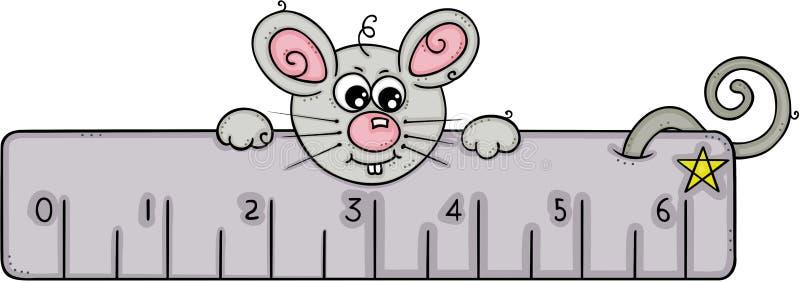 与灰色统治者的逗人喜爱的老鼠 库存例证