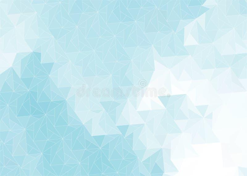 与灰色蓝色三角的抽象背景 向量例证