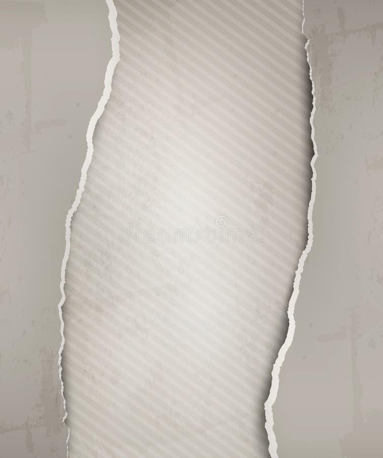 与灰色被剥去的纸和老墙壁的老背景 库存例证