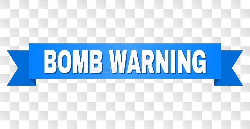 与炸弹警告标题的蓝色条纹 皇族释放例证