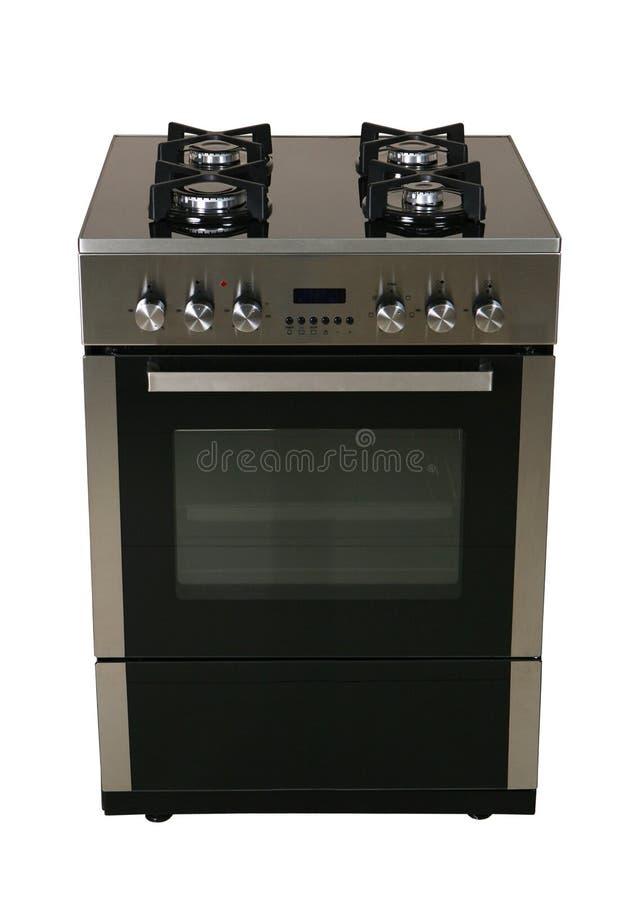 与烤箱的气体coocker 免版税库存图片