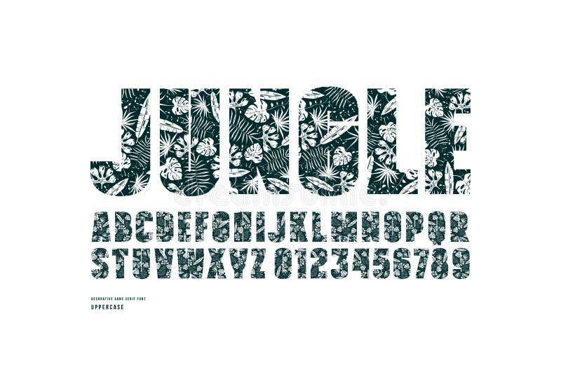 热带数字标题字体的装饰sansserif商标植物和信件样式的和叶子v热带安徽建筑设计zhuanye图片
