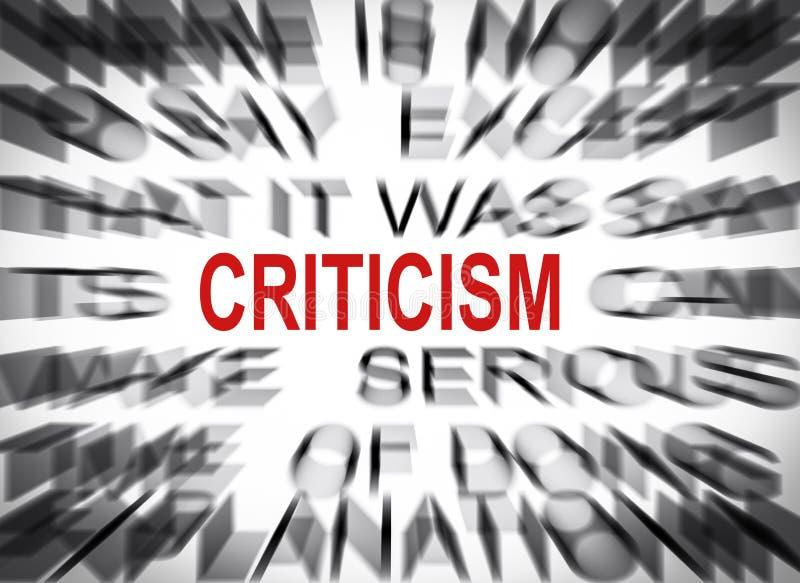 与焦点的Blured文本在批评 库存图片