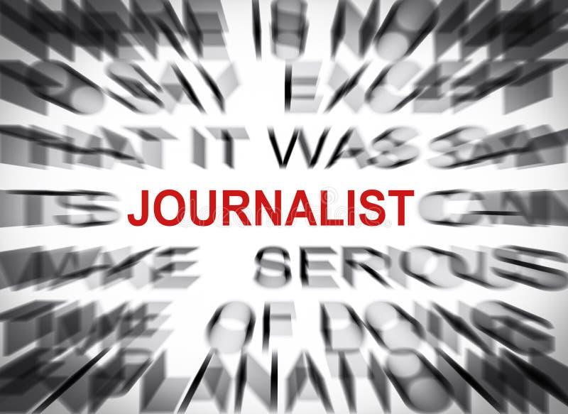 与焦点的Blured文本在新闻工作者 免版税图库摄影