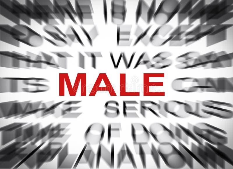 与焦点的Blured文本在男性 库存图片