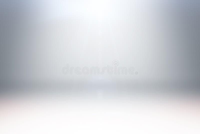 与照明的摘要干净的白光演播室背景 皇族释放例证