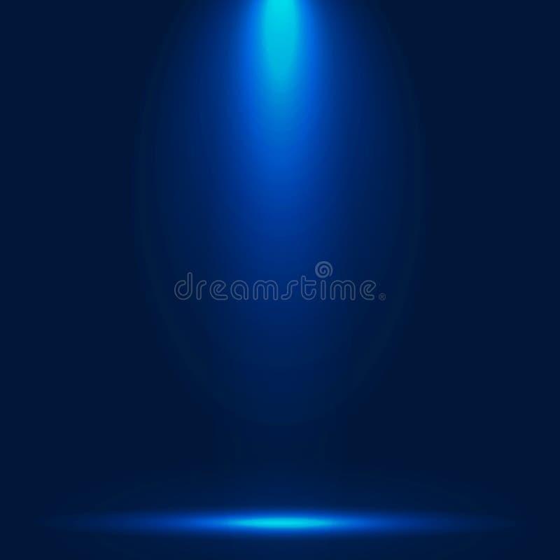 与照明设备背景演播室ba的抽象豪华蓝色梯度 库存例证