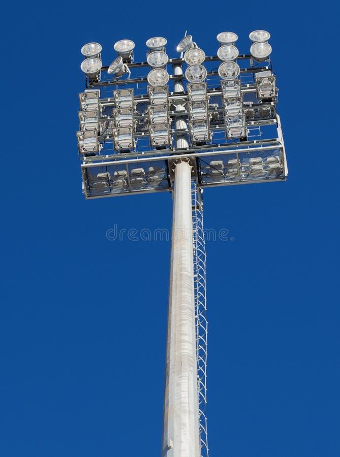 与照明闪亮指示的塔 免版税库存图片