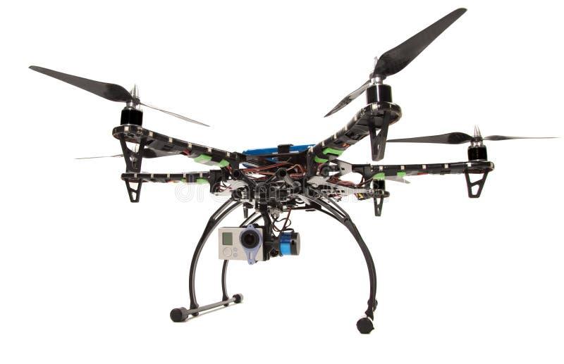 与照相机的Hexacopter在演播室 库存图片