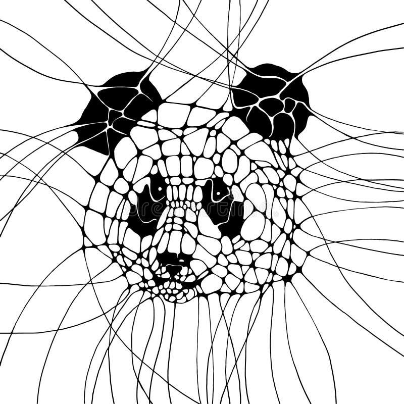 与熊猫的图表例证 图库摄影