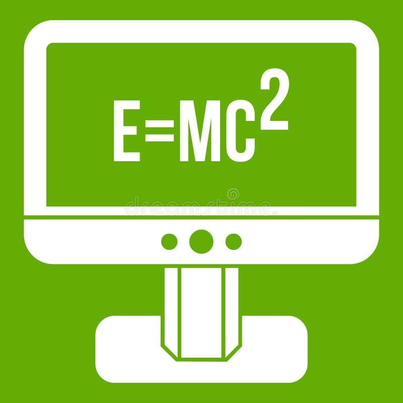 与爱因斯坦惯例象绿色的显示器 皇族释放例证
