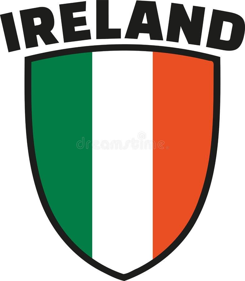 与爱尔兰旗子象征的爱尔兰词 库存例证