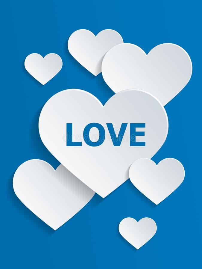 与爱文本的心脏为情人节 皇族释放例证