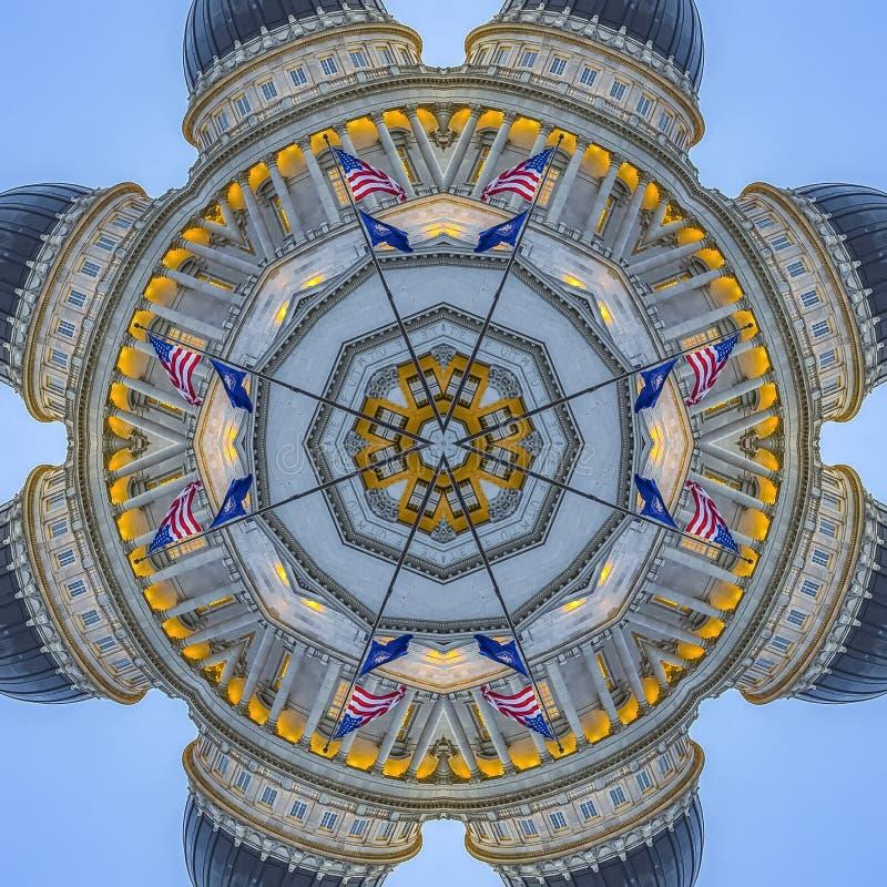与犹他首都大厦的方形的框架象征设计 皇族释放例证