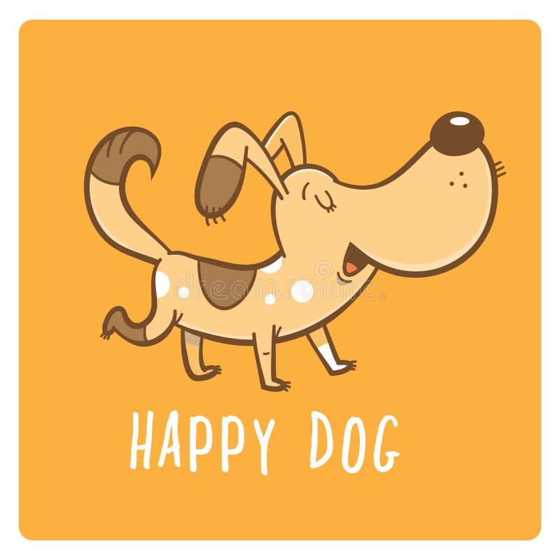 与狗的卡片 向量例证