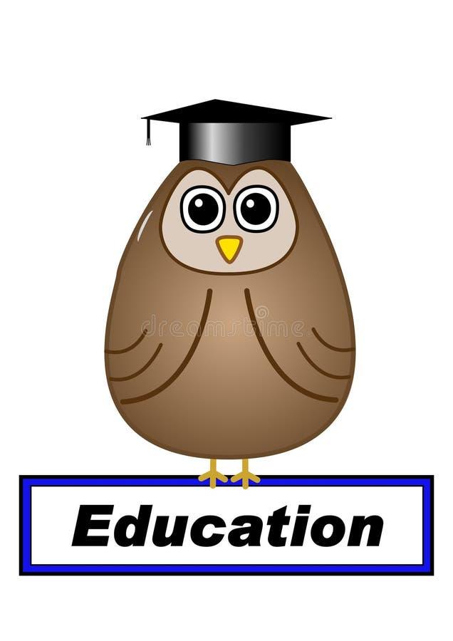 与猫头鹰的教育概念 图库摄影