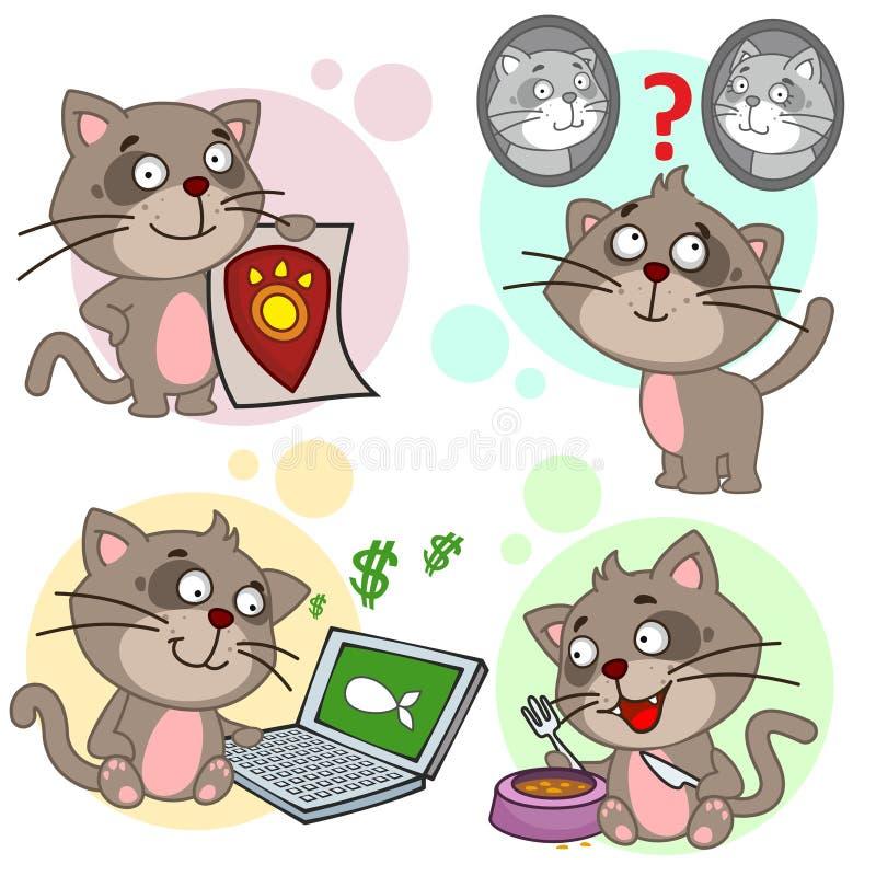 与猫的象分开11 库存例证
