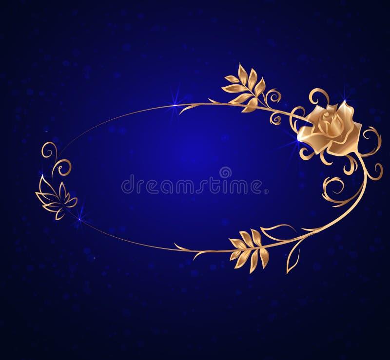 Download 与玫瑰的卵形金框架 向量例证. 插画 包括有 国界的, 装饰, 魔术, 背包, 介绍, 标签, 叶子, 例证 - 62534075