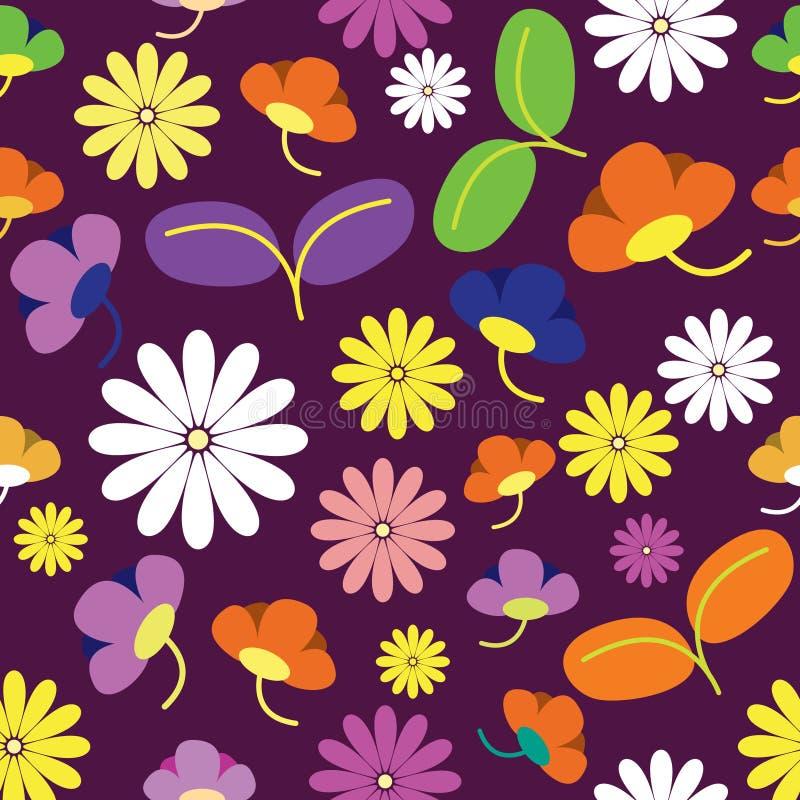 与玫瑰的无缝的样式在非常美好的颜色 与花装饰品的无缝的样式 皇族释放例证