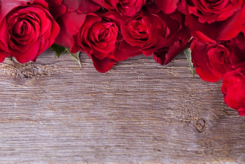 与玫瑰的背景 免版税库存图片