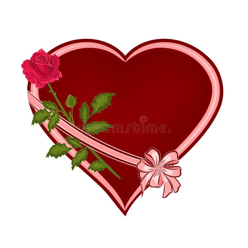与玫瑰色传染媒介的情人节心脏