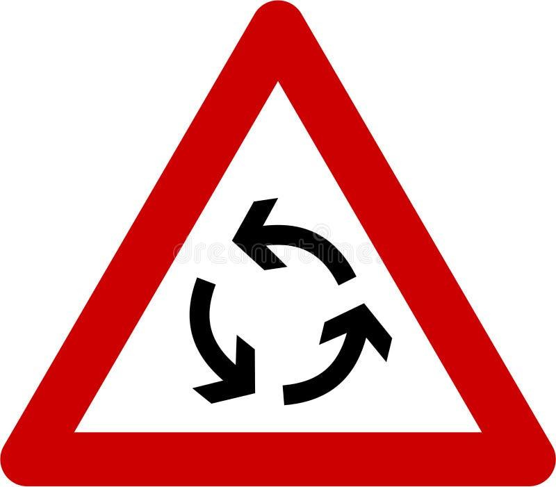 与环形交通枢纽的警报信号 库存例证