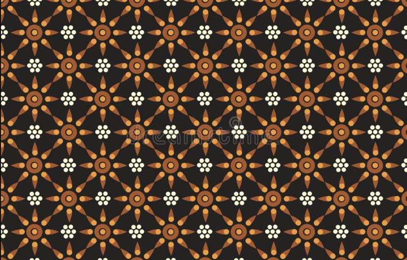 与现代颜色各种各样的接触的各种各样的印度尼西亚蜡染布主题,成为非常好工作 向量例证