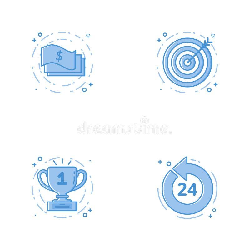 与现金、目标或者targe目标, 24 7的象硬币 图库摄影