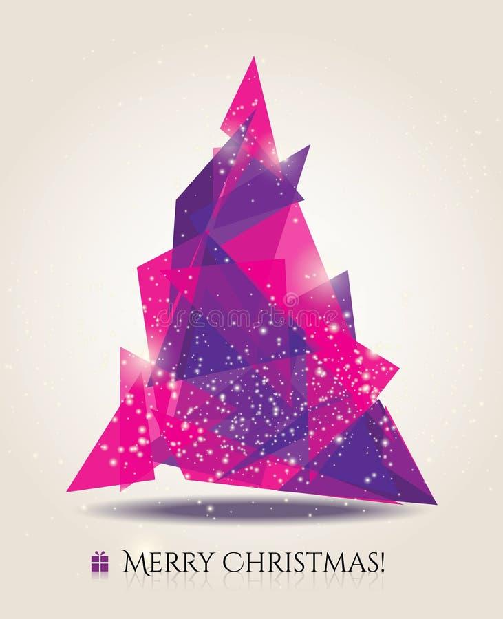 与现代元素的抽象圣诞卡。 库存例证