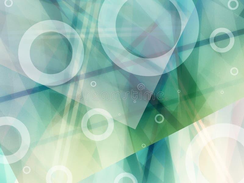 与现代几何设计元素和对角线的抽象两次曝光背景 向量例证
