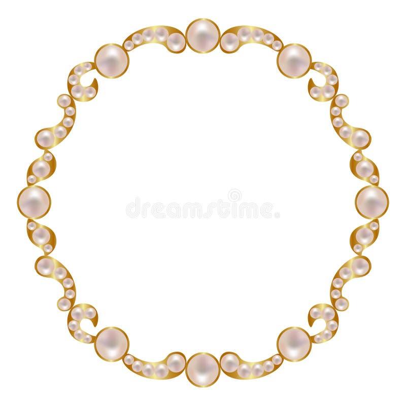 与珍珠的框架 向量例证