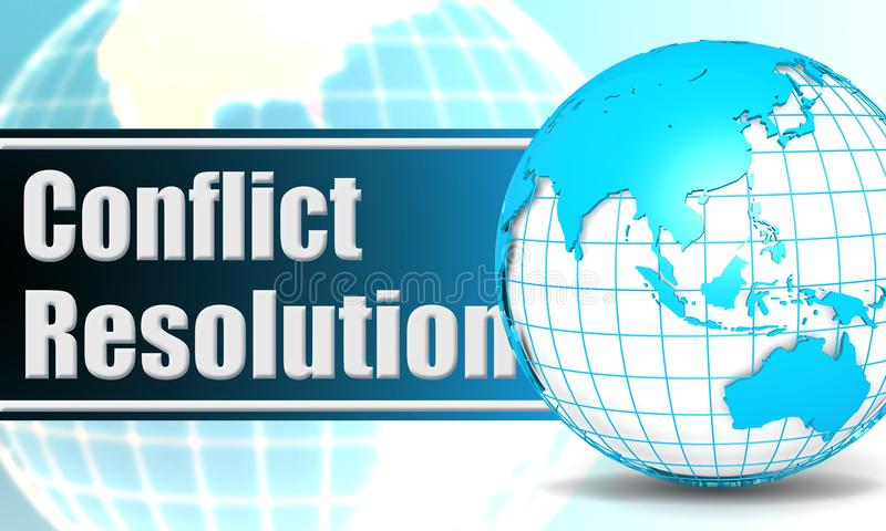 与球形地球的解决冲突 向量例证