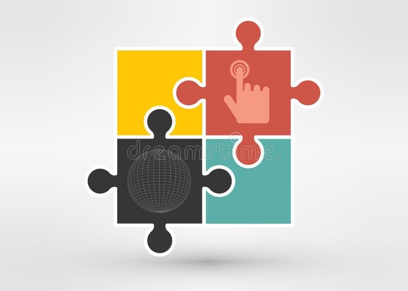 Download 与球形的难题 设计的例证 向量例证. 插画 包括有 图象, 背包, 连接, 连结, 回报, 特写镜头, 楼层 - 59102046