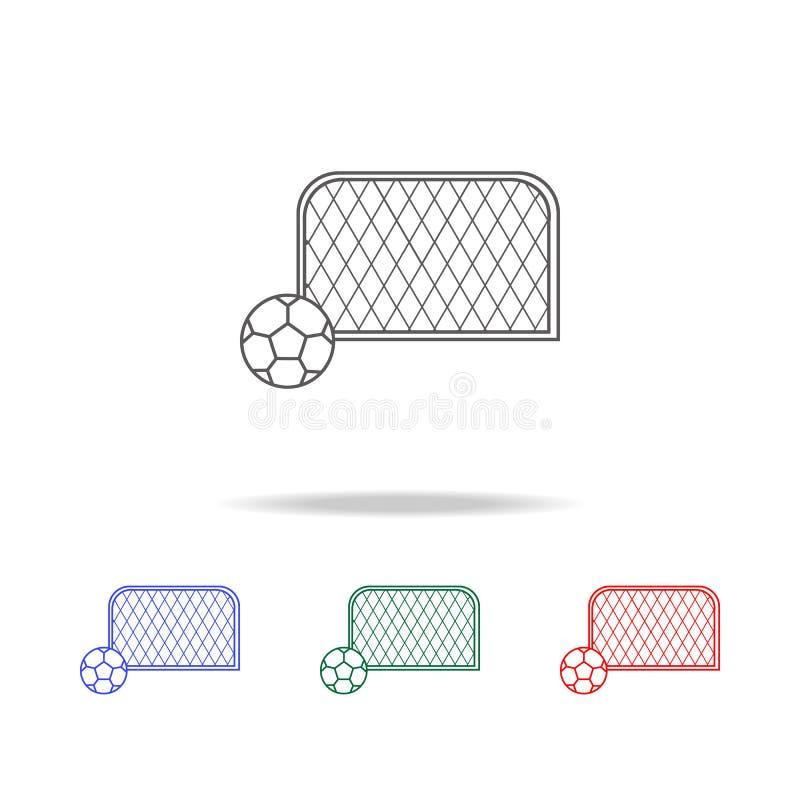 与球象的足球目标 教育多色的象的元素 优质质量图形设计象 websit的简单的象 皇族释放例证