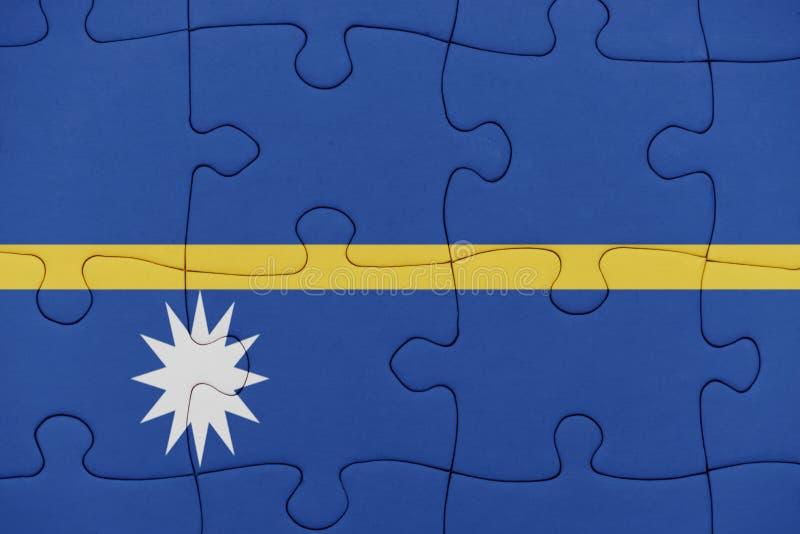 与瑙鲁的国旗的难题 库存图片