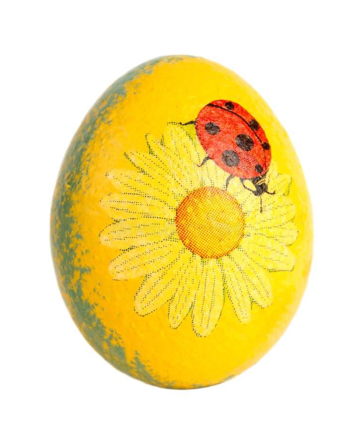 与瓢虫的复活节彩蛋 免版税库存图片
