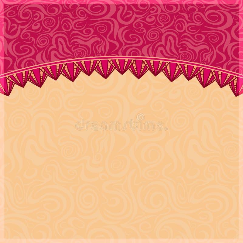 与瓣装饰品的抽象漩涡背景。 皇族释放例证