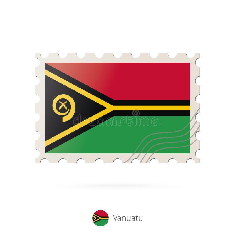 与瓦努阿图旗子的图象的邮票 库存例证