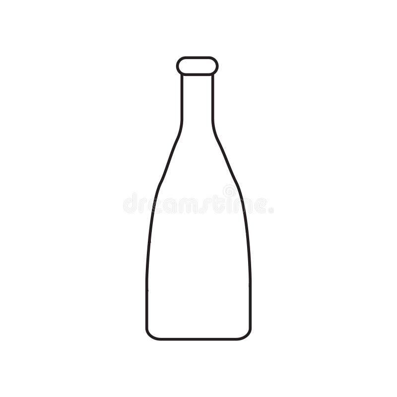 与瓶图象的简单的等高象 没有积土的一张图画 也corel凹道例证向量 向量例证