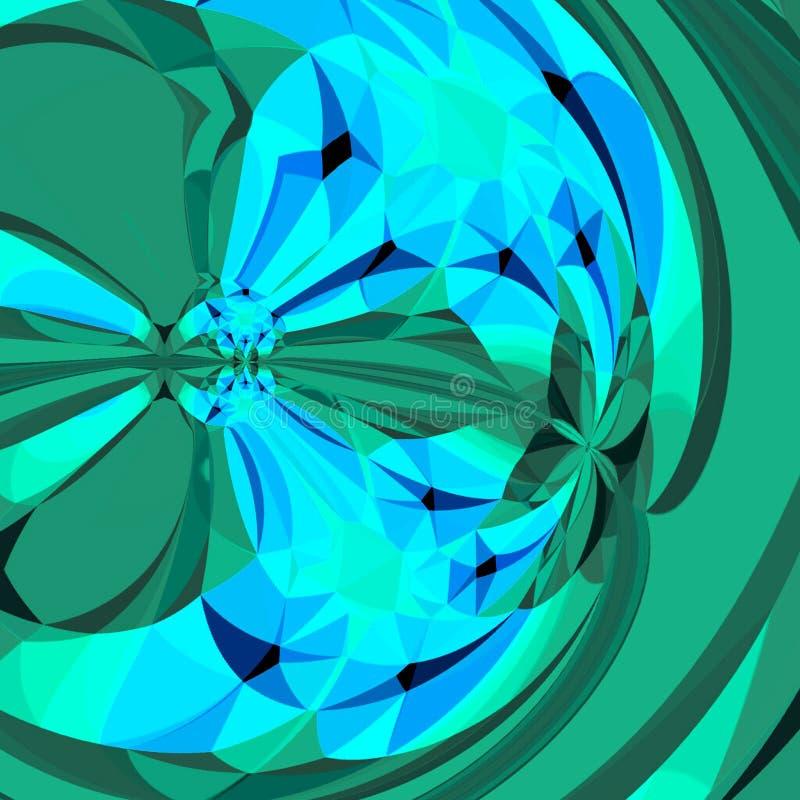 与生动和醒目的小野鸭花对角抽象卡片的霓虹分数维 向量例证