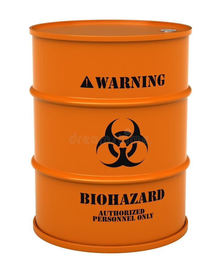 与生物危害品物质的桶 向量例证