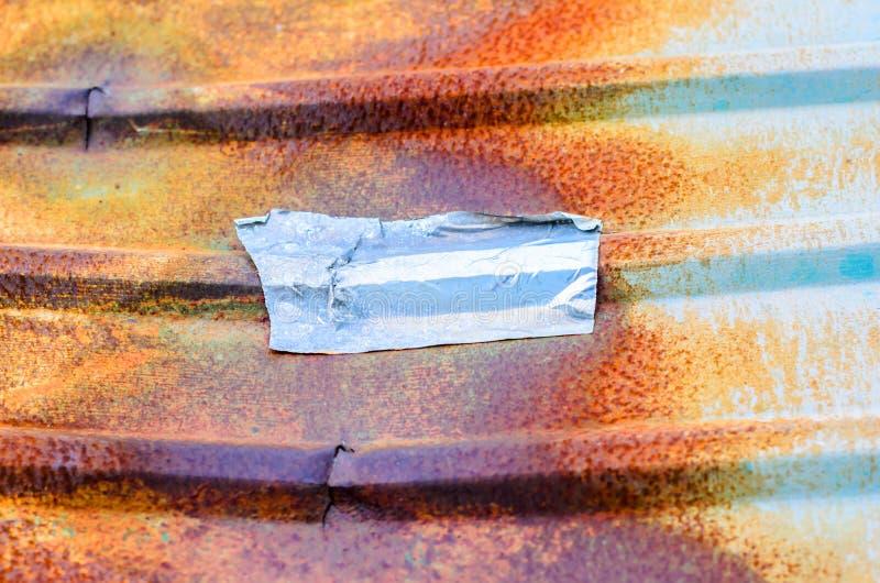 与生锈的金属的锌 库存图片