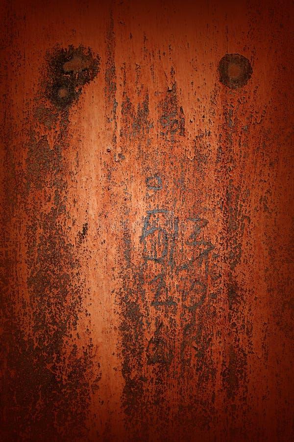 与生锈的金属表面的背景 免版税图库摄影