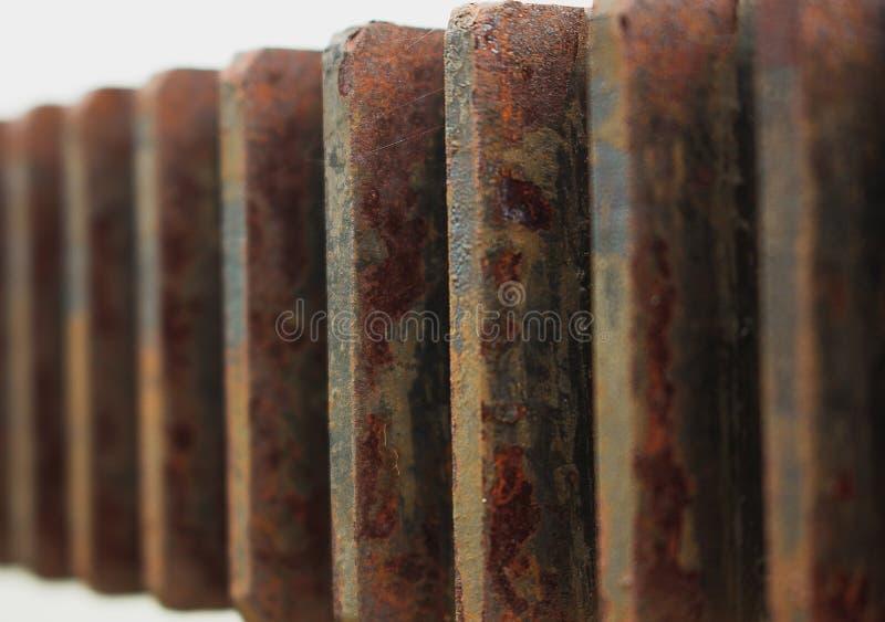 与生锈的齿轮样式 免版税图库摄影