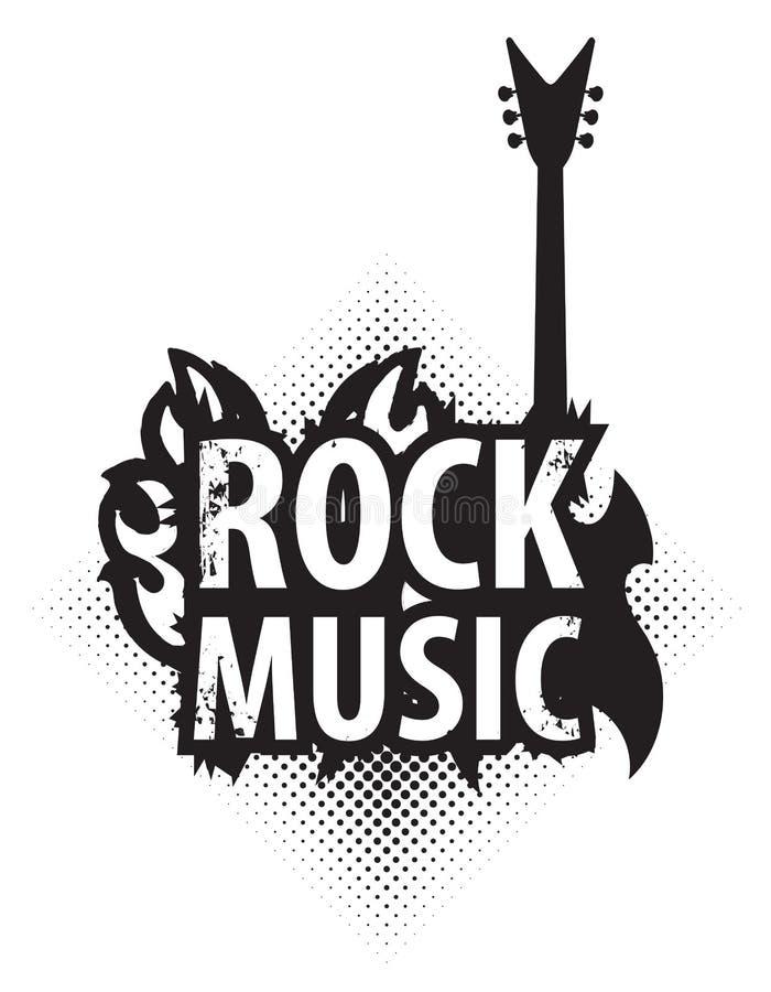 与电吉他的摇滚乐 皇族释放例证
