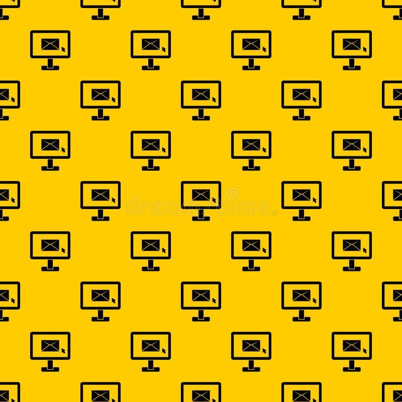 与电子邮件标志样式传染媒介的显示器 向量例证