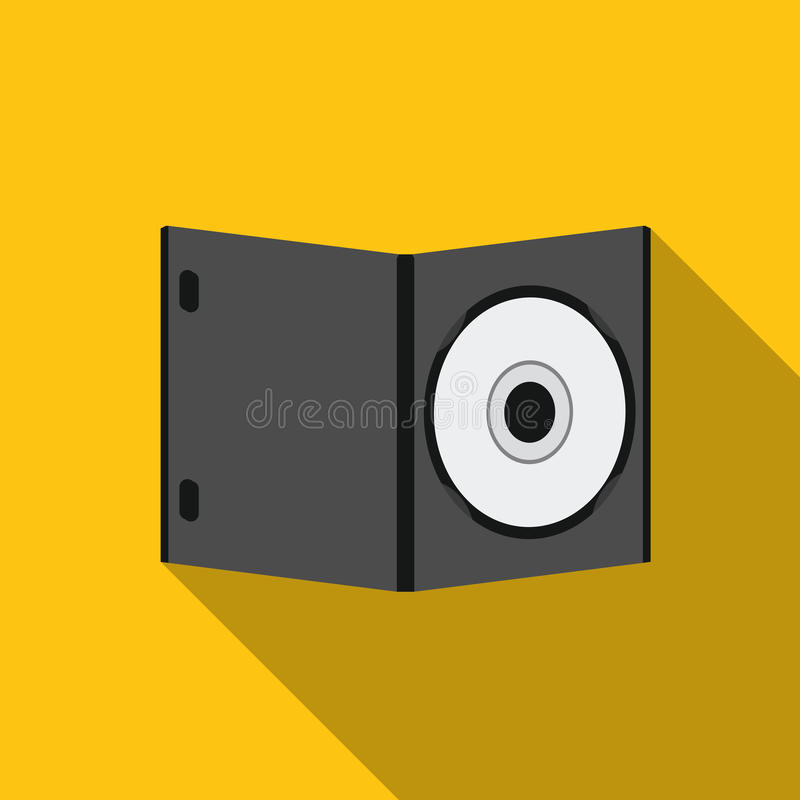 与电影象的DVD在白色背景的平的样式 向量例证
