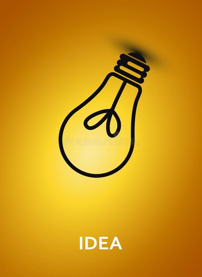与电灯泡的抽象背景。 皇族释放例证